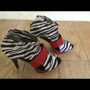 Zebra print heels size 9